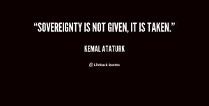 Ataturk - on sovereignty