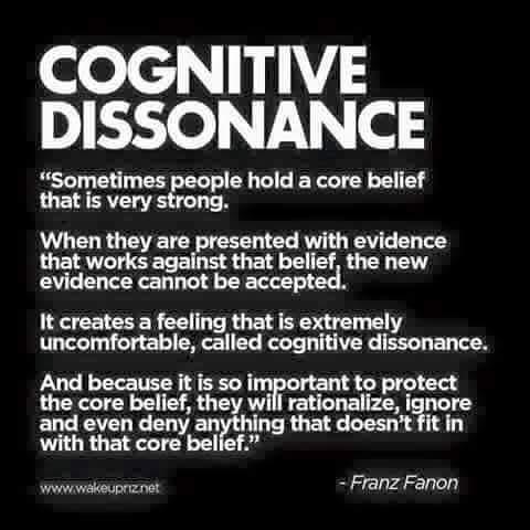 Franz Fanon - Cognitive Dissonance definition