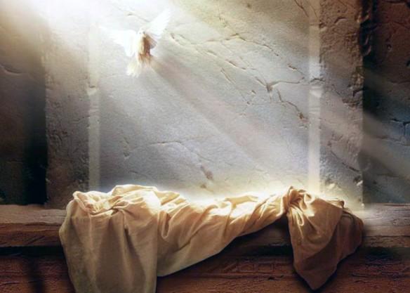 ΑΝΑΣΤΑΣΗ - περιστέρι + ἀφημένο νεκρο-σέντονο σε πέτρινο ΕΝτάφο με ΗΛΙΑκτίδα