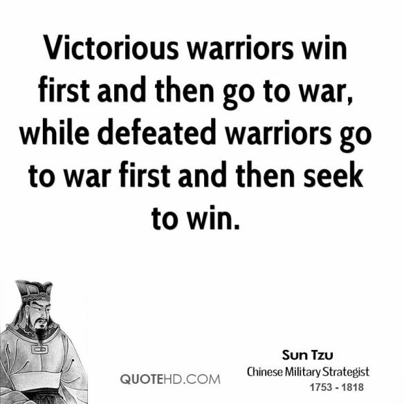 Sun-Tzu - victorious warriors win first then go to war