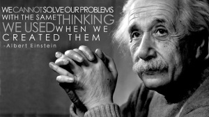 Albert Einstein - solution with NEW thinking
