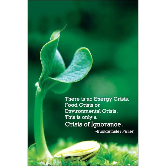 Buckminster Fuller - There is no Energy Crisis, Food Crisis or Environmental Crisis. This is only a Crisis of Ignorance.