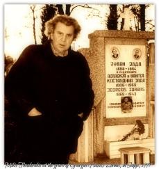 ΜΙΚΗΣ Θεοδωράκης - mikis theodorakis skopje 1997 - για συναυλία - ἐπίσκεψη στον τάφο του Ζορμπά - Zorbas gravesite .