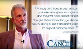 Dr. Ben Johnson - ...take enough mammograms and they will have breast cancer...give Tamoxifen=get that patient back. Good business.