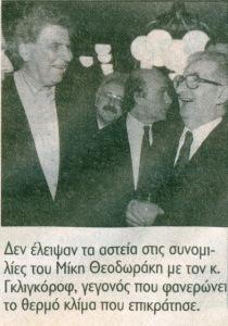 ΜΙΚΗΣ Θεοδωράκης - στα Σκόπια 1997 - συνομλίες με Γκλιγκόροφ - θερμό κλίμα ἐπι~κράτησε
