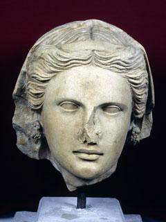 Cyprus - female Arsos head -