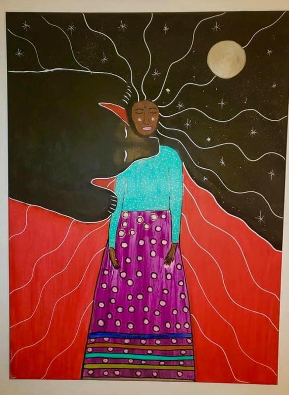 by Cheryle Dreaver - surrendering the Feminine throat - ΘΗΛΥ - to the Bear bite
