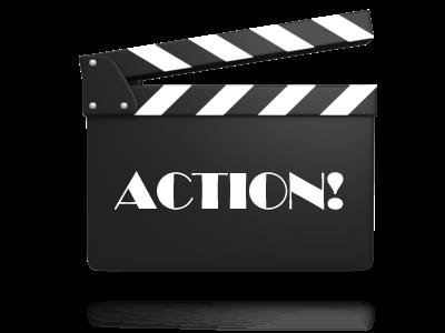 film clacker - ACTION.EM .silent movies font