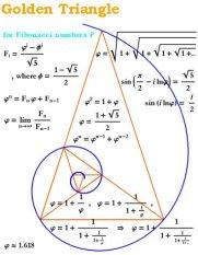 Golden Ration - Trianglular Divine Mathematics