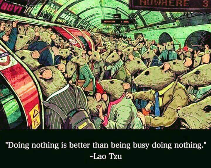 Lao Tzu - Doing nothing is better than being busy doing nothing.