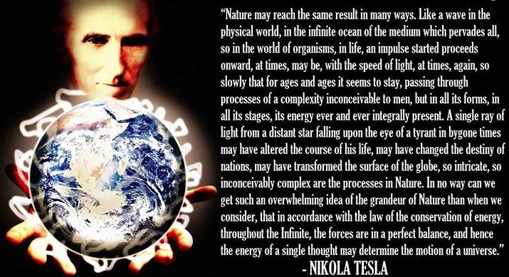 Nikola Tesla - on ENergy of the grandeur of Nature