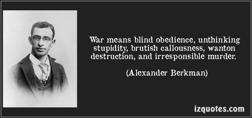 Alexander Berkman - War means ...