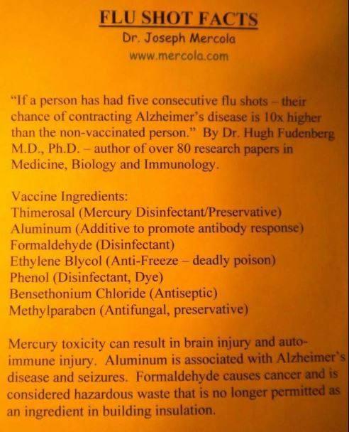 Dr. Joseph Mercola - FLU SHOT FACTS - medicinal genocide