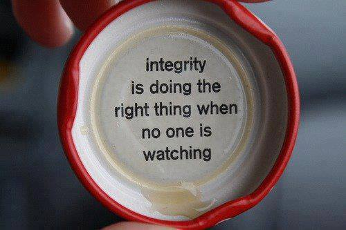 integrity is ...