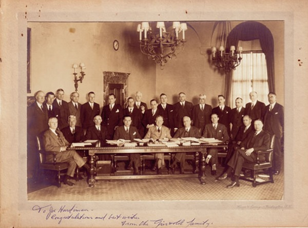 Investment Bankers Code Committee, 1933-1934 - To for -Hardiman-qM- congradulations and best wishes from the Griswold family
