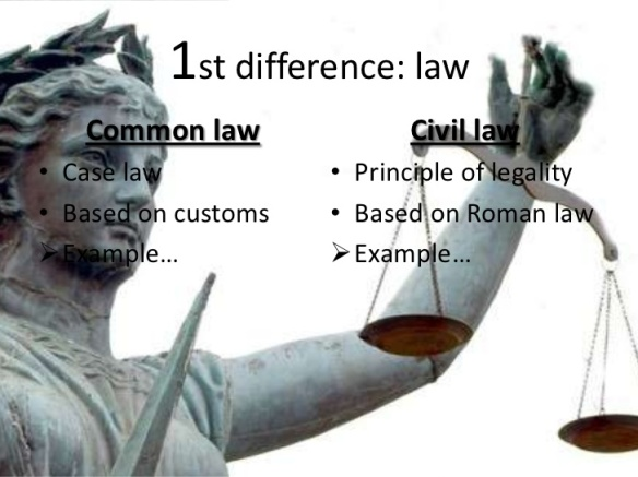 COMMON LAW - CIVIL LAW ... 1st difference ... with statue of ,,Justice,, holding the ,,balance,, - Libra symbol -