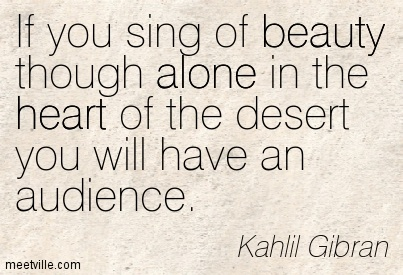Khalil Gibran - alone with audience