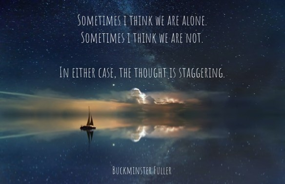 Sometimes i think WE are ALONE. Sometimes i think we are NOT. In either case, the thought is staggering.