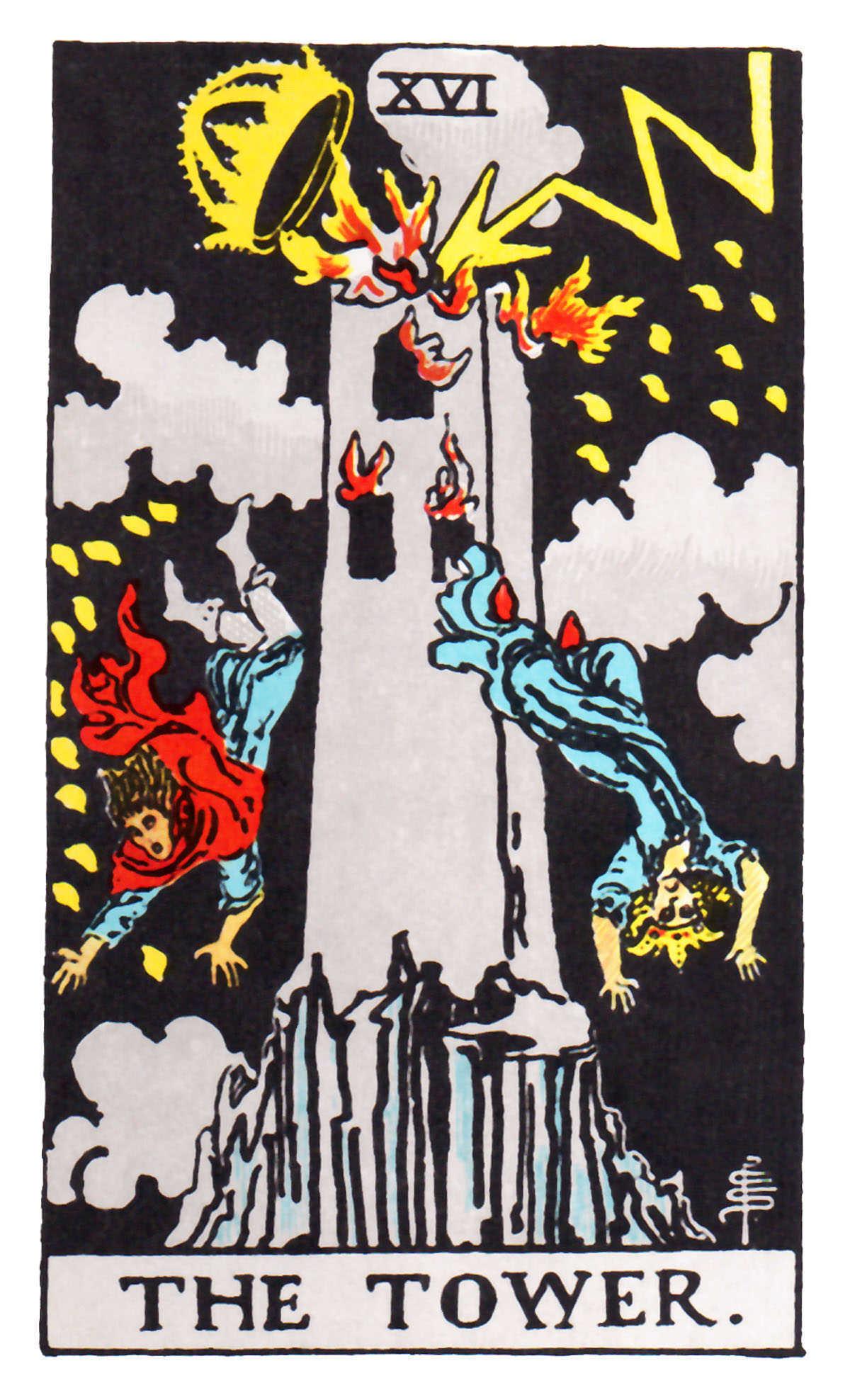 The Tower - XVI - 16 Tarot card