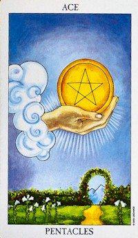 ACE of PENTACLES - minor arcana tarot card