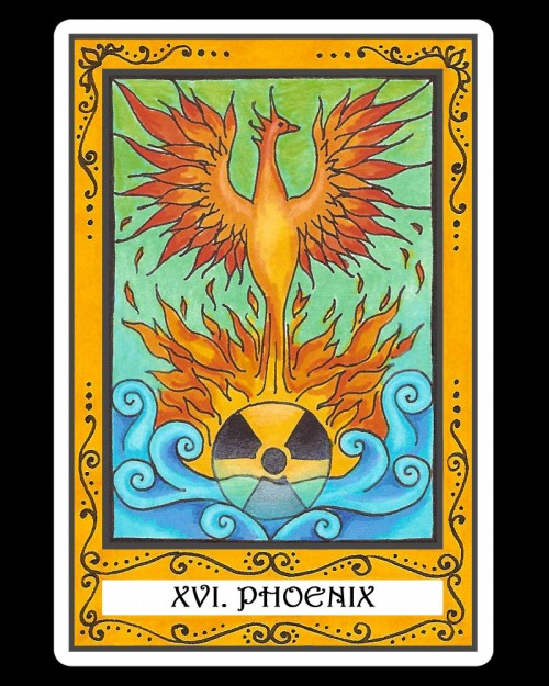 PHOENIX - XVI - 16 Tarot card - the alternative of ,,The Tower,,
