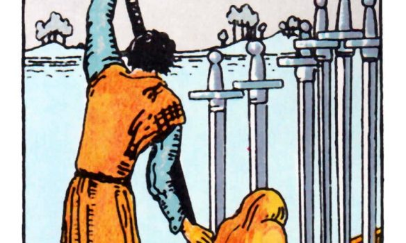 SIX of SWORDS - detail of old version ...