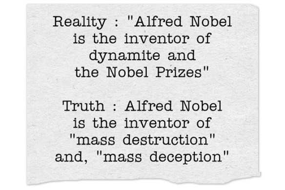 Alfred Nobel - reality and truth -