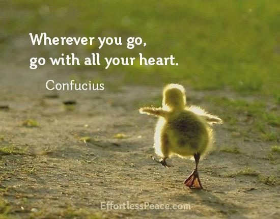 Confucius - Wherever You Go, Go With Your Heart