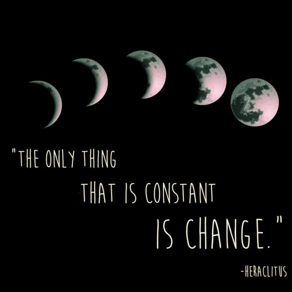 Heraclitus - constant change with moon cycle