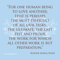 Rainer Maria Rilke - For One Human BEing to Love Another