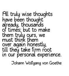 ALL truly Wise thoughts