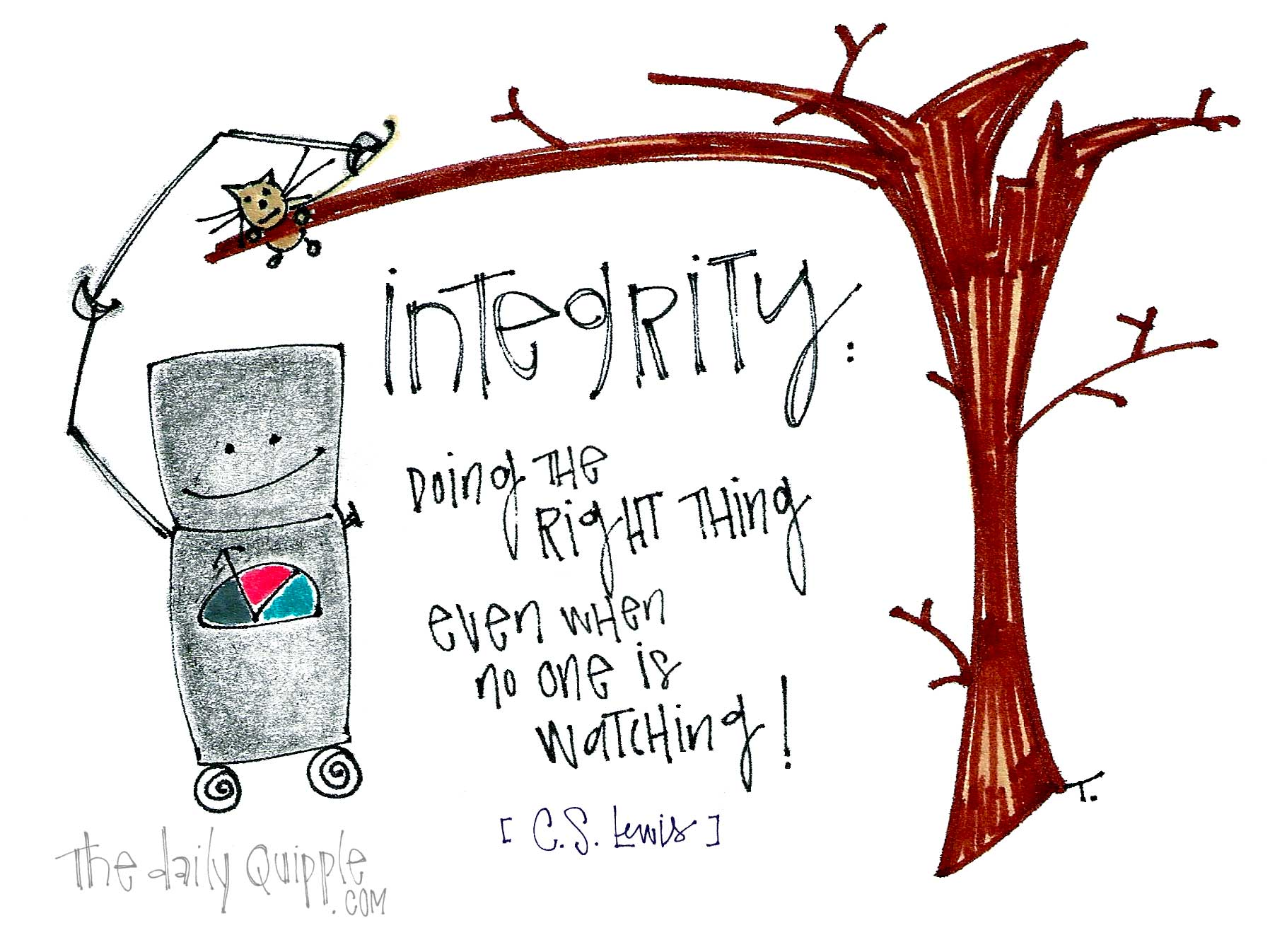 C.S. Lewis - Integrity is ... child-like drawing