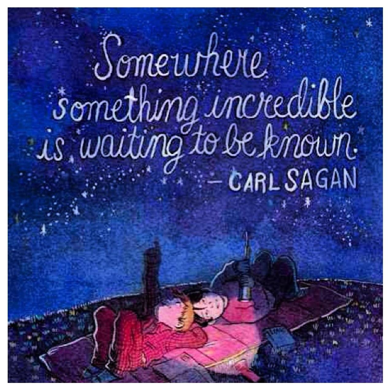 Carl Sagan - waiting to BE known