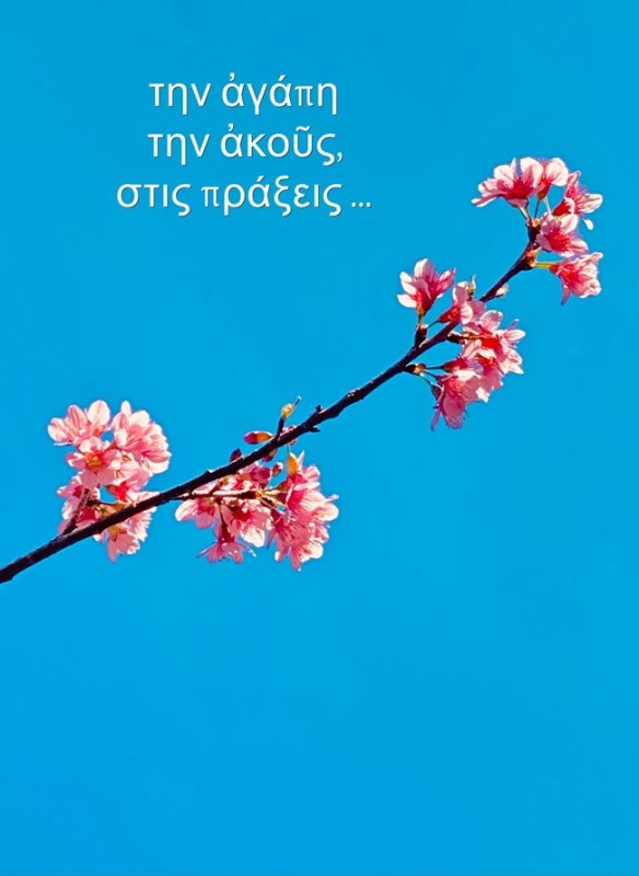 την ἀγάπη την ἀκοῦς στις πράξεις -