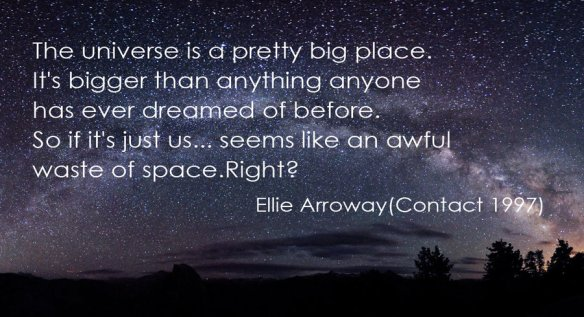 +Contact - otherwise a waste of space -final scene Ellie Arroway