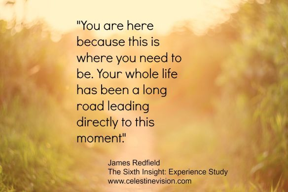 James RedField - Celestine - You are here BeCause this is where You need to Be. Your whole life has been a long road leading directly to this moment.