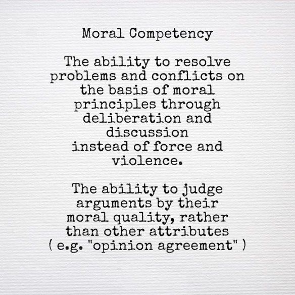 Moral Competency - definition