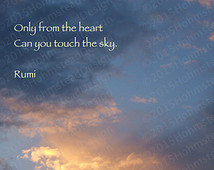 Rumi - Only from the Heart Touch Sky