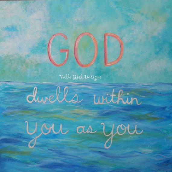 Valle.Girl Designs + Ramana Maharshi - God dwells in You as You ... XL